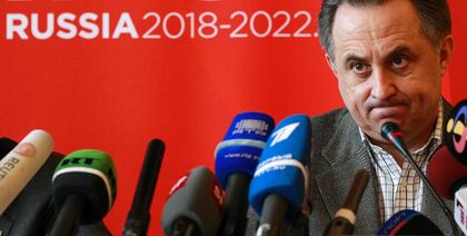 Russia's Sport Minister Vitaly Mutko addressing a press conference